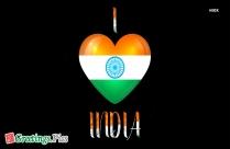 I Love India Greeting