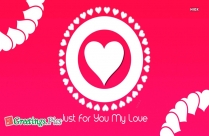 Just for You My Heart Love Picture
