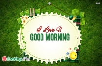 I Love U Good Morning Images