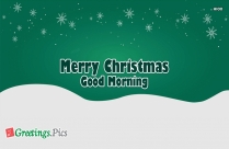 Merry Christmas Good Morning Images