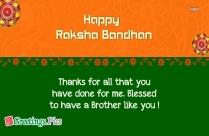 Greetings For Rakshabandhan