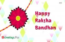 Raksha Bandhan Greetings For Sister