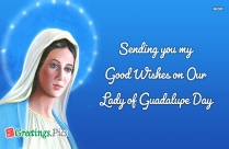 Sending You My Good Wishes On Our Lady Of Guadalupe Day