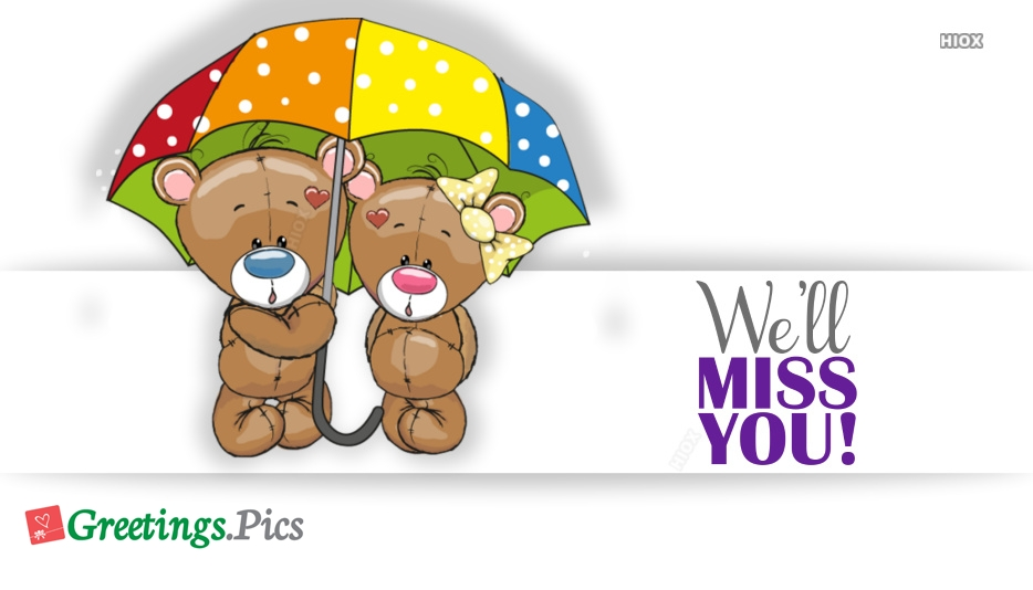 Miss You Greetings Cards, Images