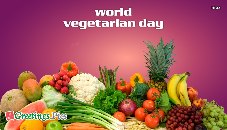 world vegetarian day greetings images